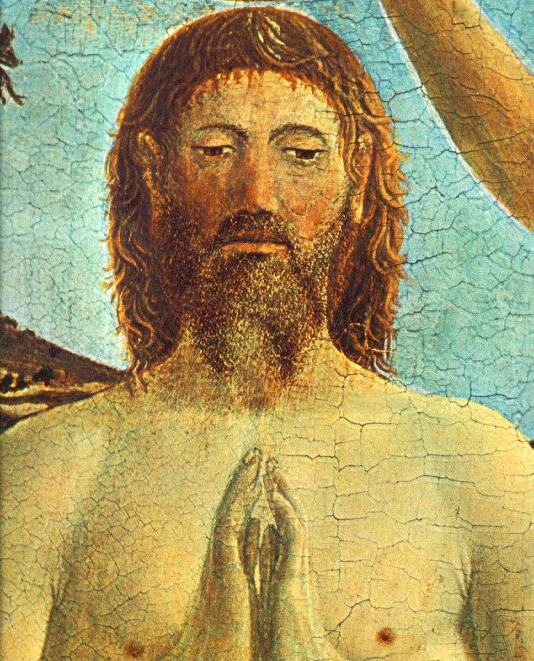 Baptism Of Christ Detail Ii 1448-50 | Della Francesca Piero | Oil Painting