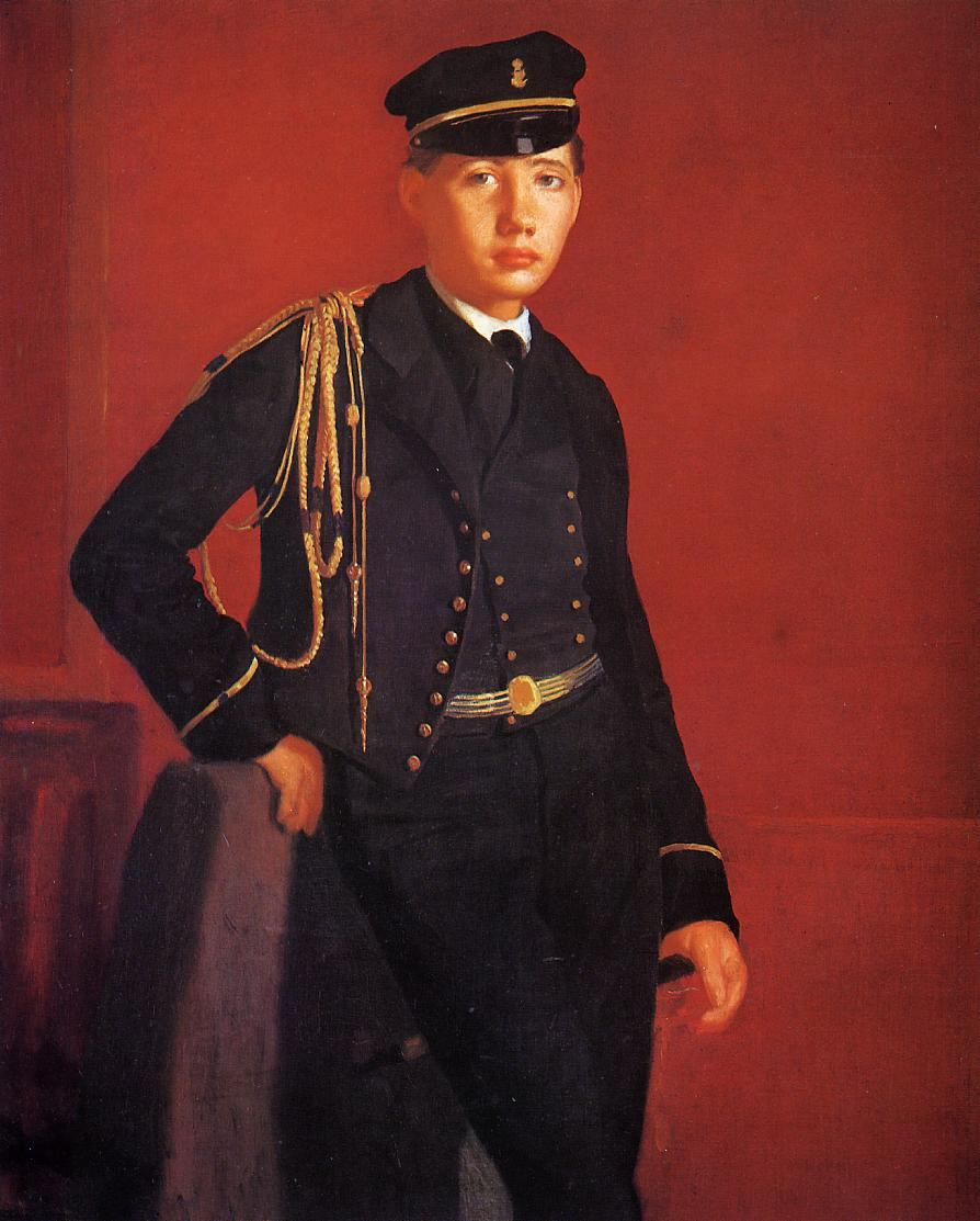 Achille De Gas in the Uniform of a Cadet 1857 | Edgar Degas | Oil Painting