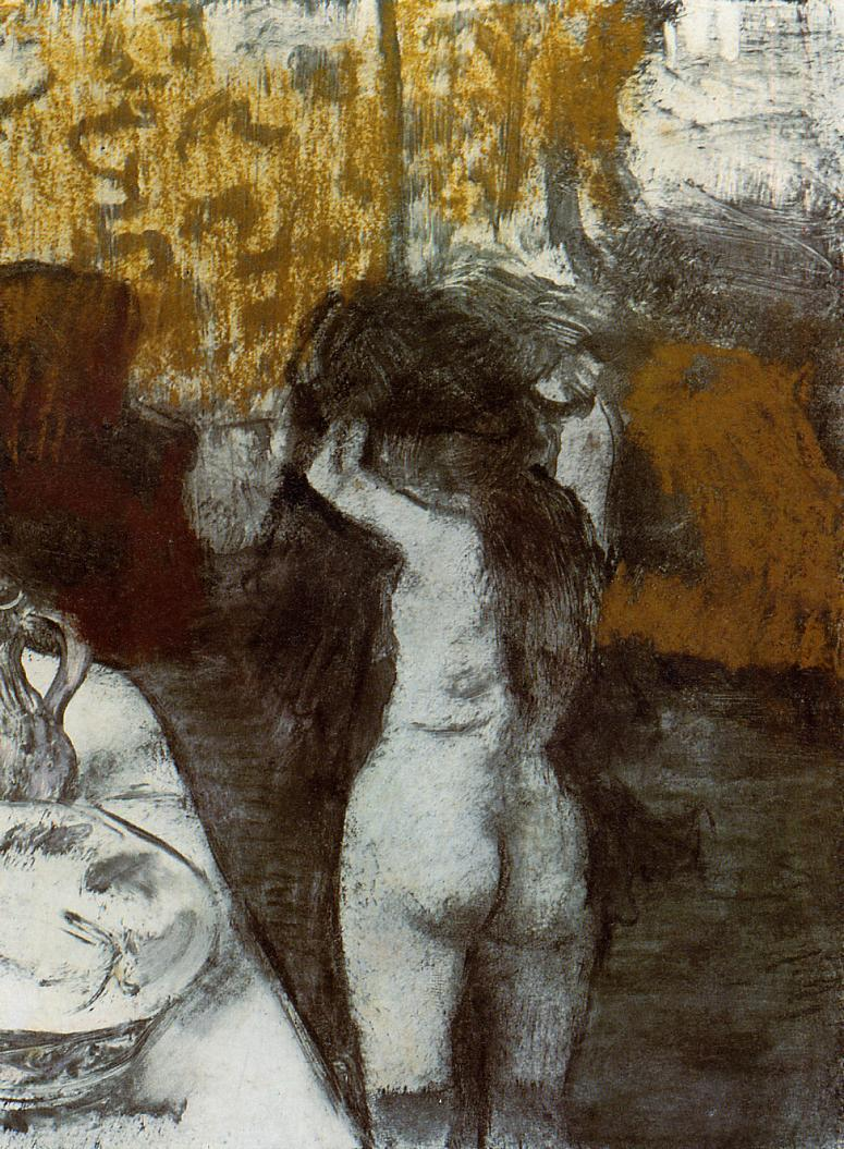 After the Bath 1876-1877 | Edgar Degas | Oil Painting