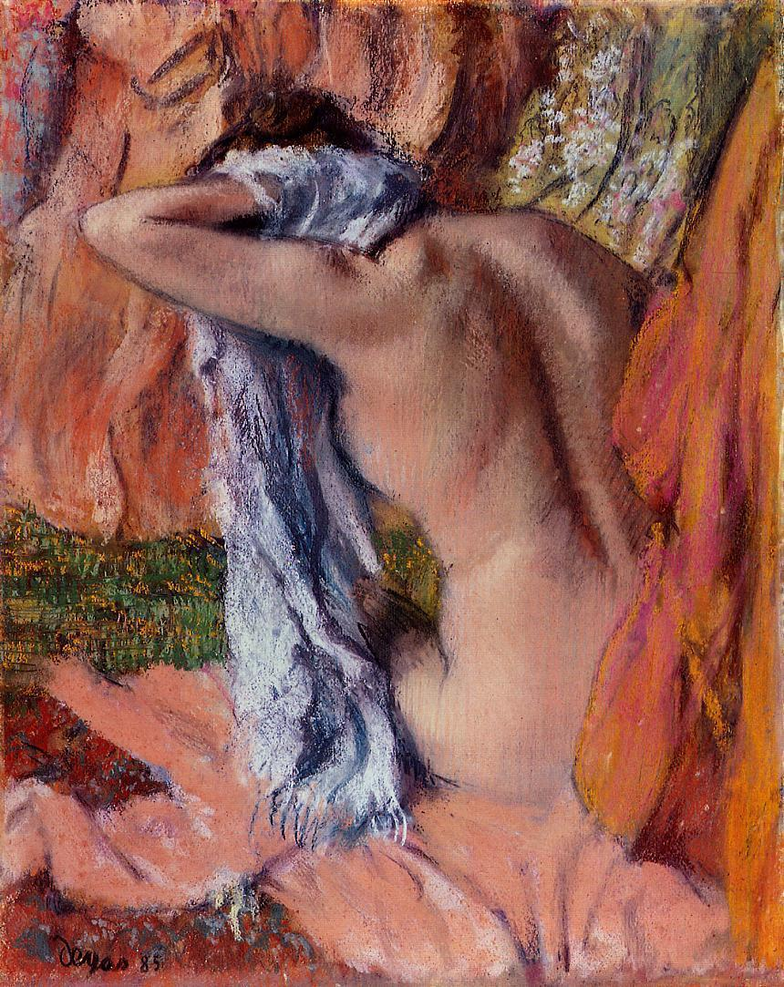 After the Bath 1890-1893 | Edgar Degas | Oil Painting