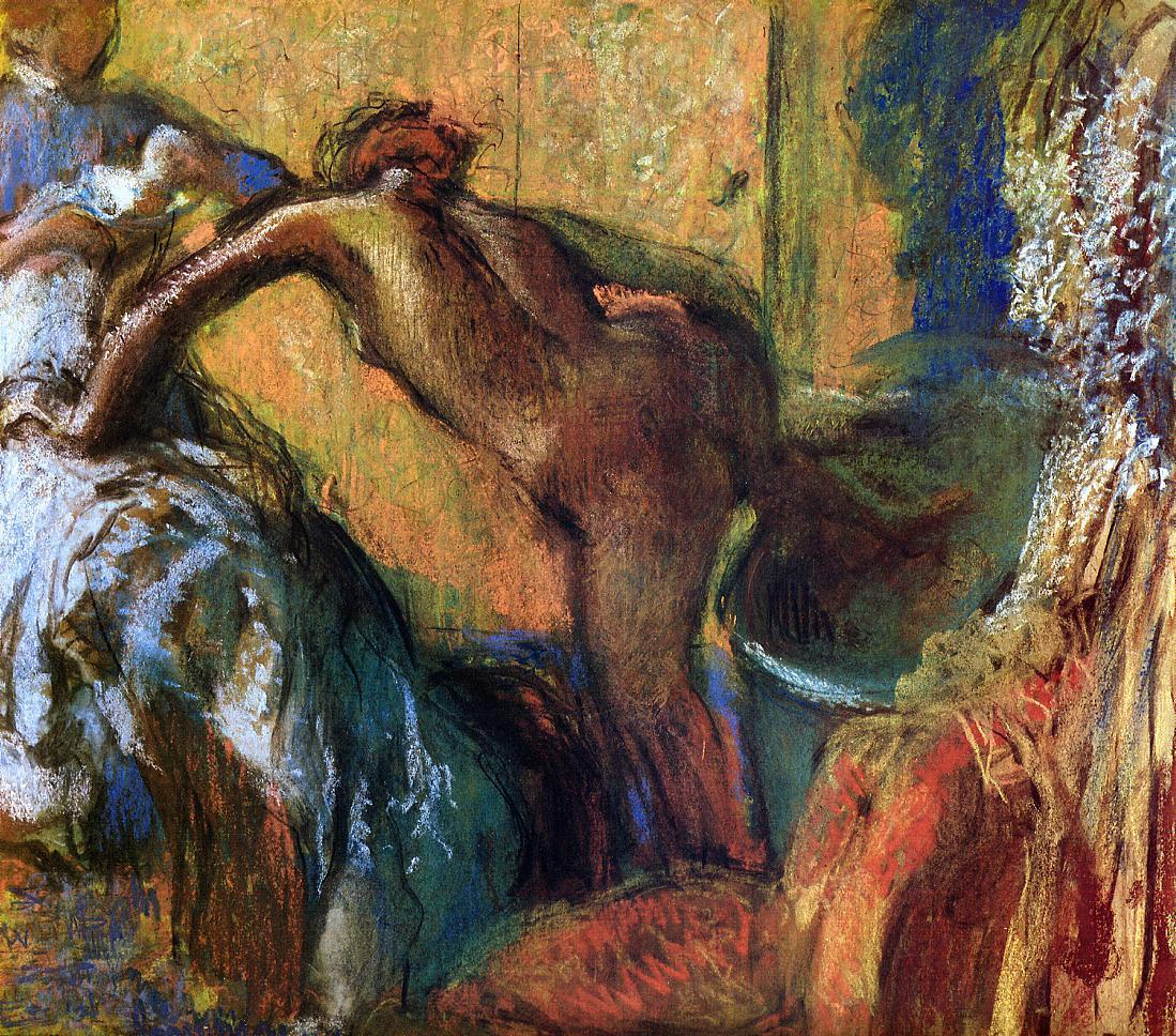 After the Bath 1895-1898 | Edgar Degas | Oil Painting