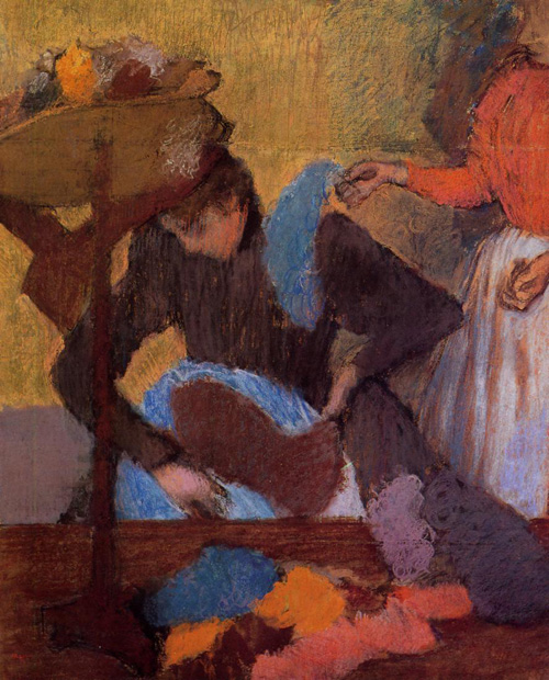 At the Milliners 1905-1910 | Edgar Degas | Oil Painting
