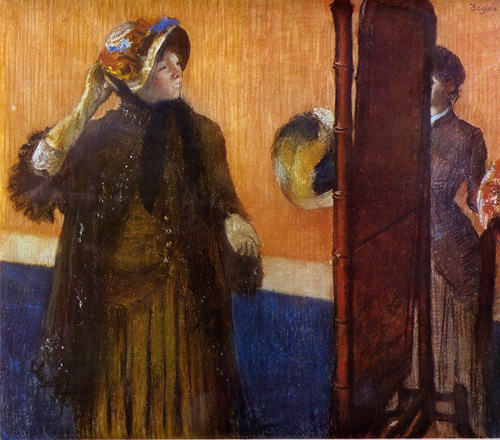 At the Milliners 2 1882 | Edgar Degas | Oil Painting