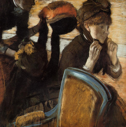 At the Milliners 3 1882 | Edgar Degas | Oil Painting