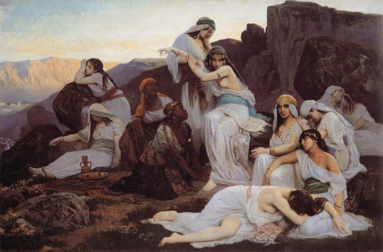 The Daughter Of Jephthah | Edouard Bernard Debat-Ponson | Oil Painting