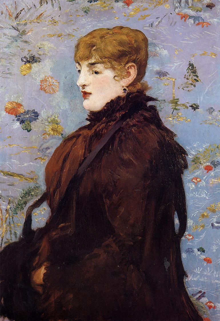 Autumn Portait of Mery Laurent in a Brown Fur Cape 1881 | Edouard Manet | Oil Painting