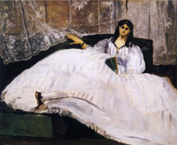 Baudelaire's Mistress Reclining 1862 | Edouard Manet | Oil Painting