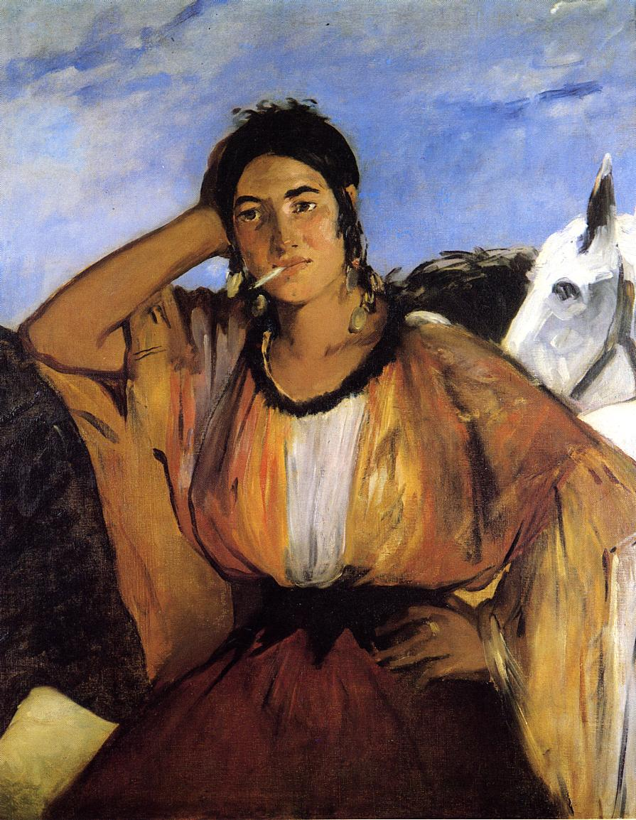 Gypsy with Cigarette (aka Indian Woman Smoking) 1862 | Edouard Manet | Oil Painting