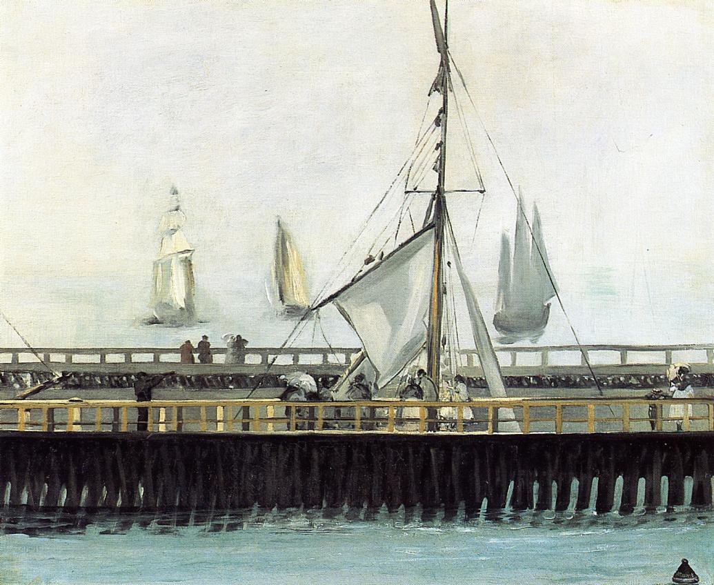 The Pier at Boulogne 1869 | Edouard Manet | Oil Painting