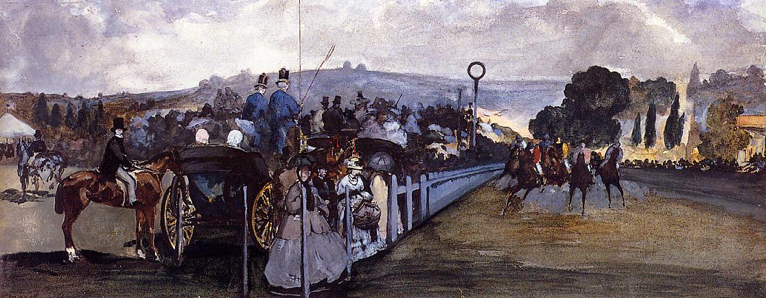The Races at Longchamp 1864 | Edouard Manet | Oil Painting