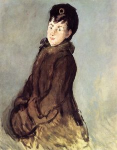 Isabelle Lemonnier with Muff 1879-1880 | Edouard Manet | Oil Painting