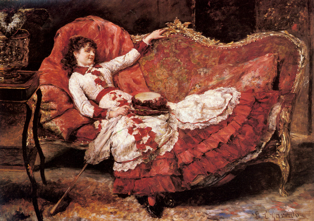 An Elegant Lady In A Red Dress