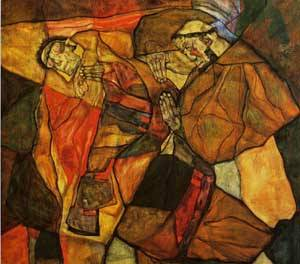 Agony 1912 | Egon Schiele | Oil Painting