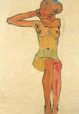 Nue Assise | Egon Schiele | Oil Painting
