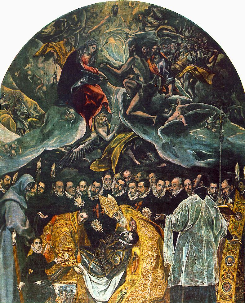 The Burial Of Count Orgaz 1586 Painting | El Greco Oil ...