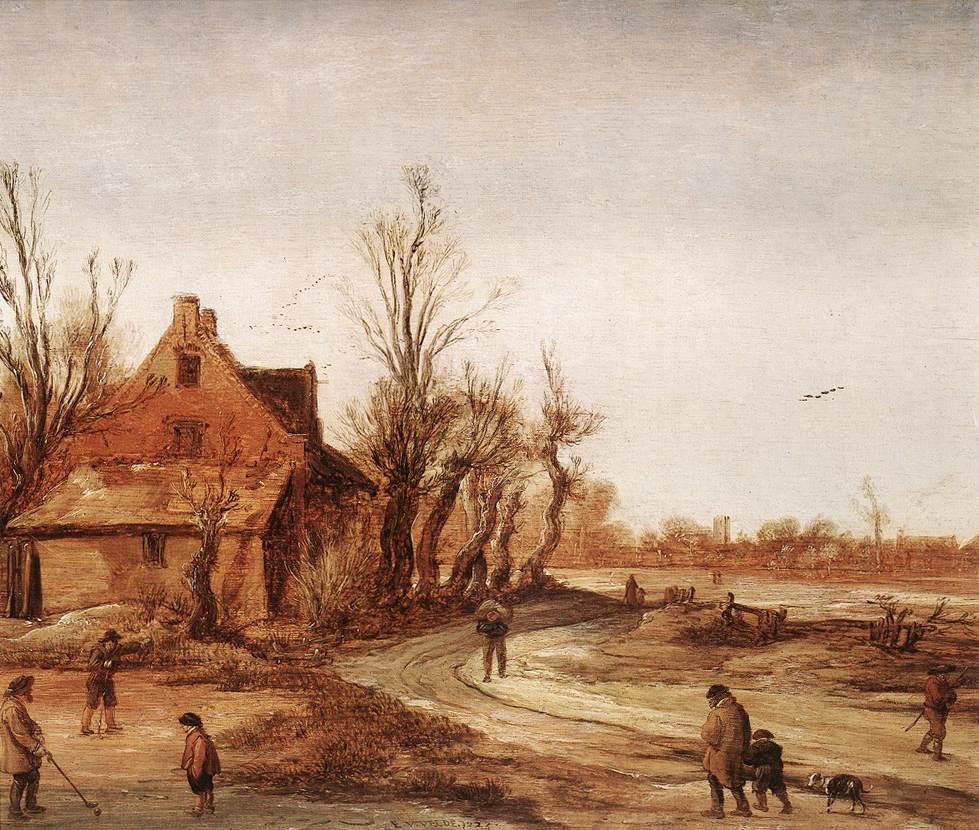 Winter Landscape 1623 | Esaias Van De Velde | Oil Painting