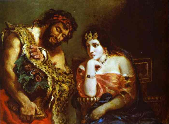 Cleopatra And The Peasant 1838 | Eugene Delacroix | Oil Painting