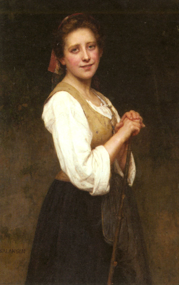 A Young Shepherdess | Eugenie Marie Salanson | Oil Painting