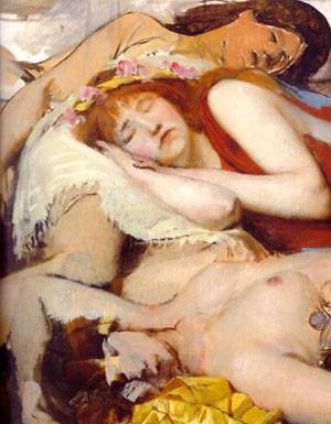 Exhausted Maenides After The Dance | Sir Lawrence Alma Tadema | Oil Painting