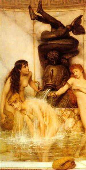 Stigils And Sponges | Sir Lawrence Alma Tadema | Oil Painting