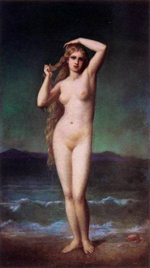The Bather | Amaury-Duval Eugene-Emmanuel | Oil Painting
