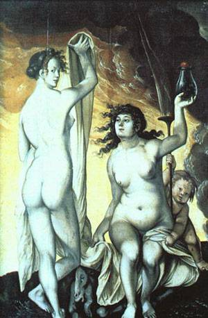Sacred And Profane Love | Grien Hans Baldung | Oil Painting