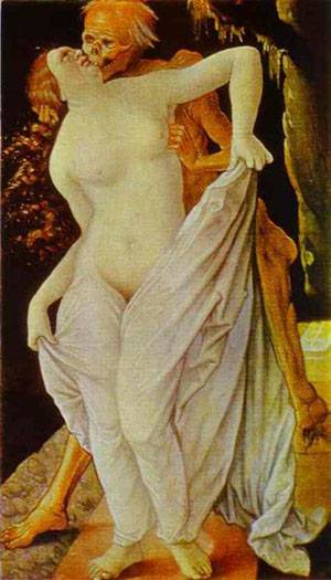 Woman And Death | Grien Hans Baldung | Oil Painting
