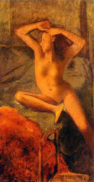 Nude With Arms Raised | Balthus Balthazar Klossowsky De Rolla | Oil Painting