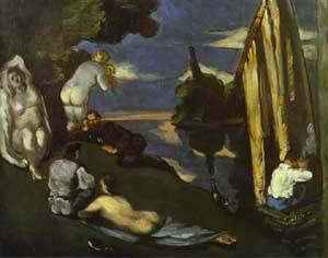 A Pastoral Idyll | Paul Cezanne | Oil Painting