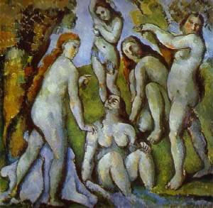 Five Bathers | Paul Cezanne | Oil Painting