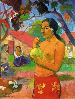 Eu Haere Ia Oe Woman Holding A Fruit | Paul Gauguin | Oil Painting