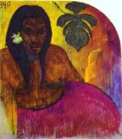 Tahitian Woman | Paul Gauguin | Oil Painting