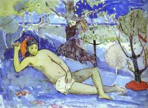 Te Arii Vahine Queen | Paul Gauguin | Oil Painting