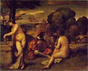 A Pastoral Concert | Giorgione Giorgio Barbarelli | Oil Painting