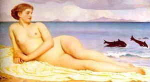 Actaea The Nymph Of The Shore | Lord Frederick Leighton | Oil Painting