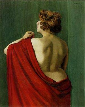 Woman With A Red Shawl | Felix Vallotton | Oil Painting