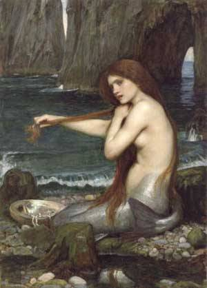 A Mermaid | Waterhouse John William | Oil Painting