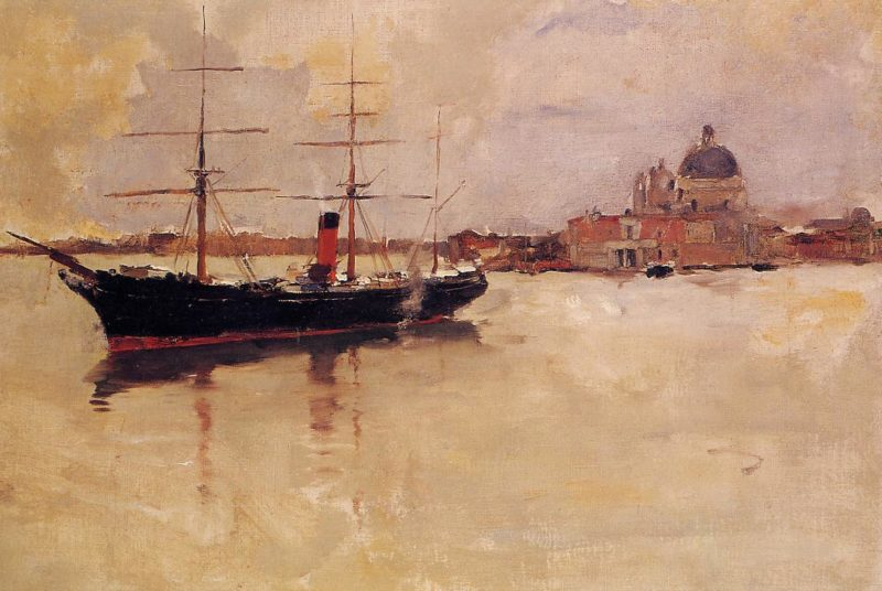 Ship in Grand Canal 1881 | Frank Duveneck | Oil Painting