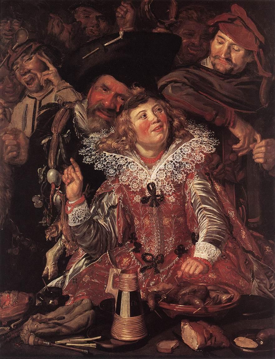 Shrovetide Revellers 1615 | Frans Hals | Oil Painting