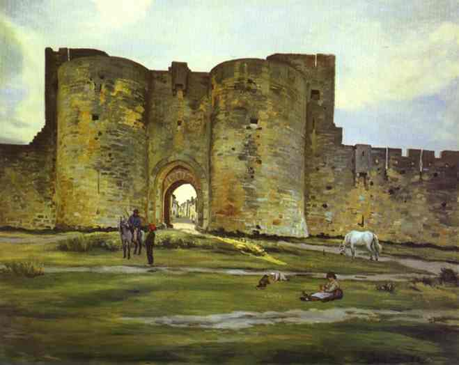 Port Of The Queen At Aigues Mortes 1867 | Frederic Bazzille | Oil Painting