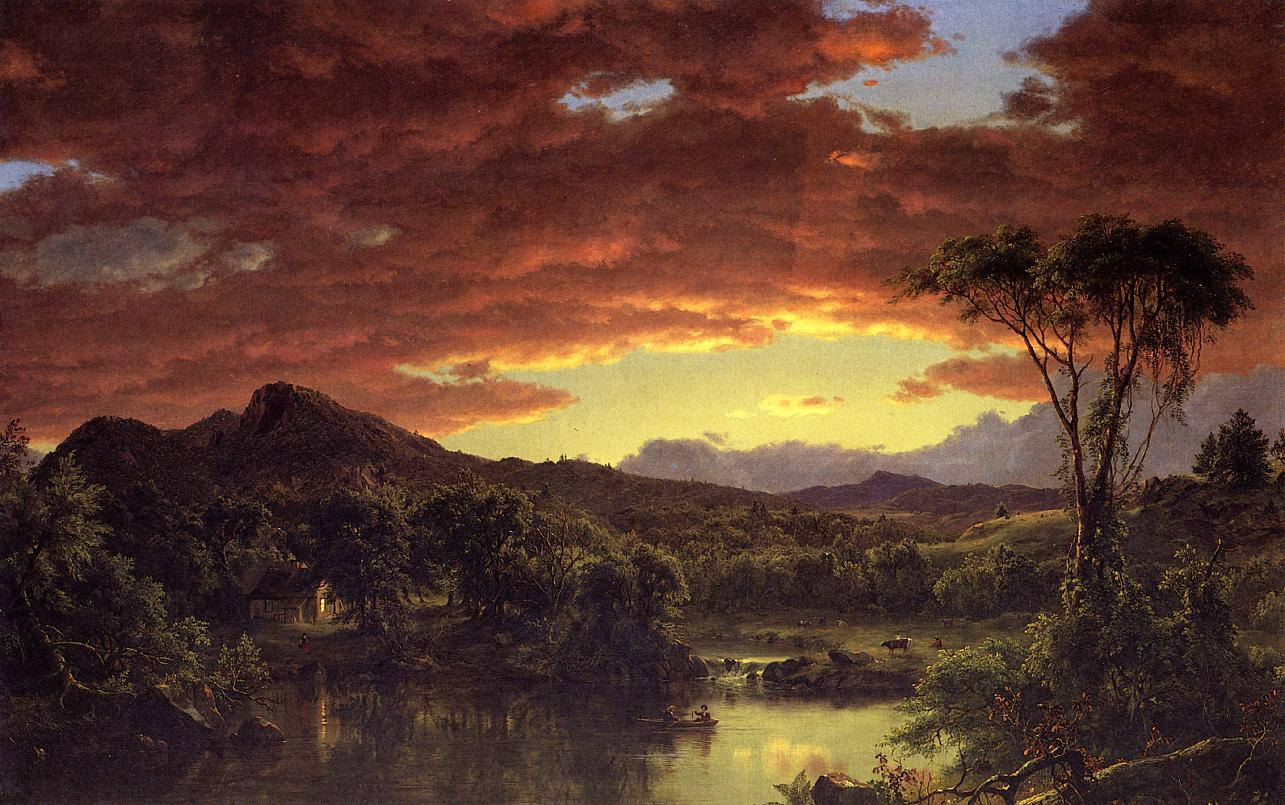 A Country Home 1854 | Frederic Edwin Church | Oil Painting