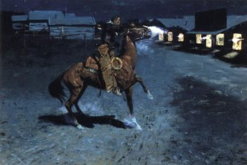 An Arguement with the Town Marshall 1907 | Frederic Remington | Oil Painting