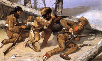 A Brush with the Redskins 1891 | Frederic Remington | Oil Painting