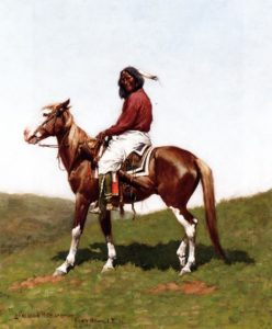 Comanche Brave Fort Reno Indian Territory 1888 | Frederic Remington | Oil Painting