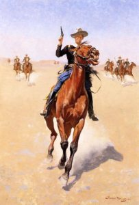 The Trooper 1891-1892 | Frederic Remington | Oil Painting