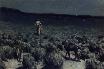 The Wolves Sniffed Along on the Trail but Came No Closer | Frederic Remington | Oil Painting