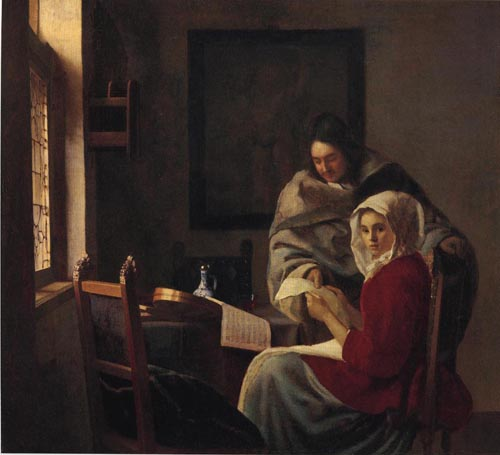 Girl Interrupted at Her Music 1660 | Johannes Vermeer | Oil Painting