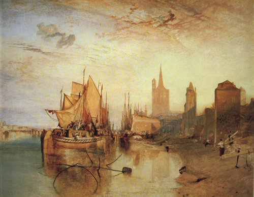 Cologne The Arrival of a Packed Boat Evening 1826 | Joseph Mallord William Turner | Oil Painting