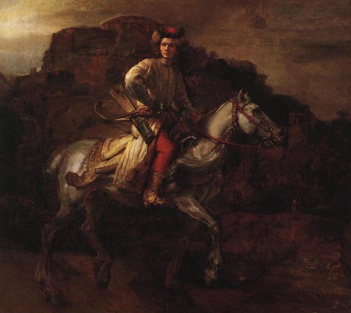 The Polish Rider 1655 | Rembrandt Harmensz Van Rijn | Oil Painting
