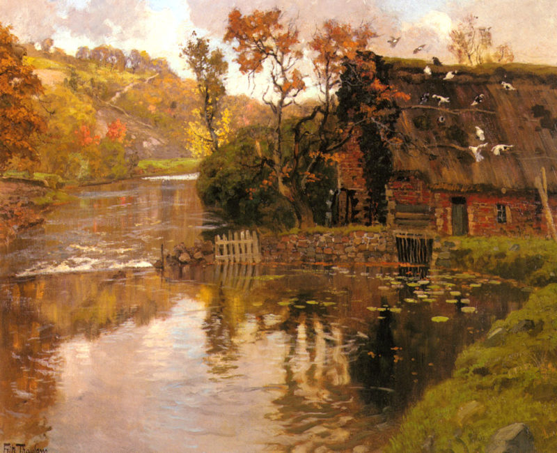 Cottage By A Stream | Frits Thaulow | Oil Painting